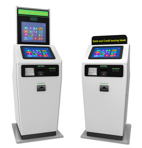 Debit / Credit Card Issuing Kiosk with Virtual Teller Assist